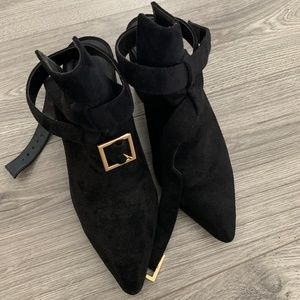 Raye Ankle Bootie in Black Suede